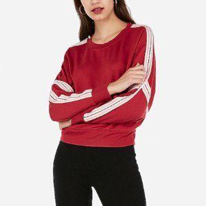 NWT Express Crew Neck Varsity Stripe Sweatshirt